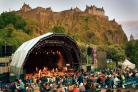 The black-out fence around Princes Street Gardens for the Summer Sessions concerts