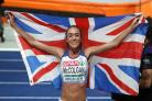 Great Britan's Eilish McColgan celebrates winning silver in the women's 5000m final during day six of the 2018 European Athletics Championships at the Olympic Stadium, Berlin. PRESS ASSOCIATION Photo. Picture date: Sunday August 12, 2018. See PA s