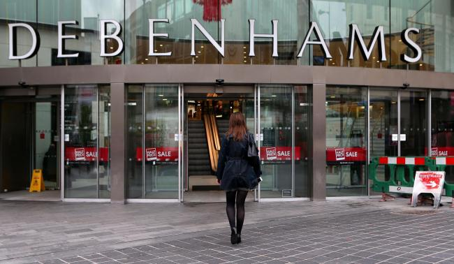 File photo dated 26/06/13 of a Debenhams store as the retailer is to swing the axe on up to 90 staff as it enters redundancy talks with hundreds of workers at its fashion and home departments. PRESS ASSOCIATION Photo. Issue date: Thursday August 16, 2018.