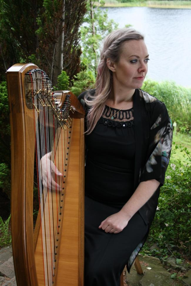 Image result for harp player