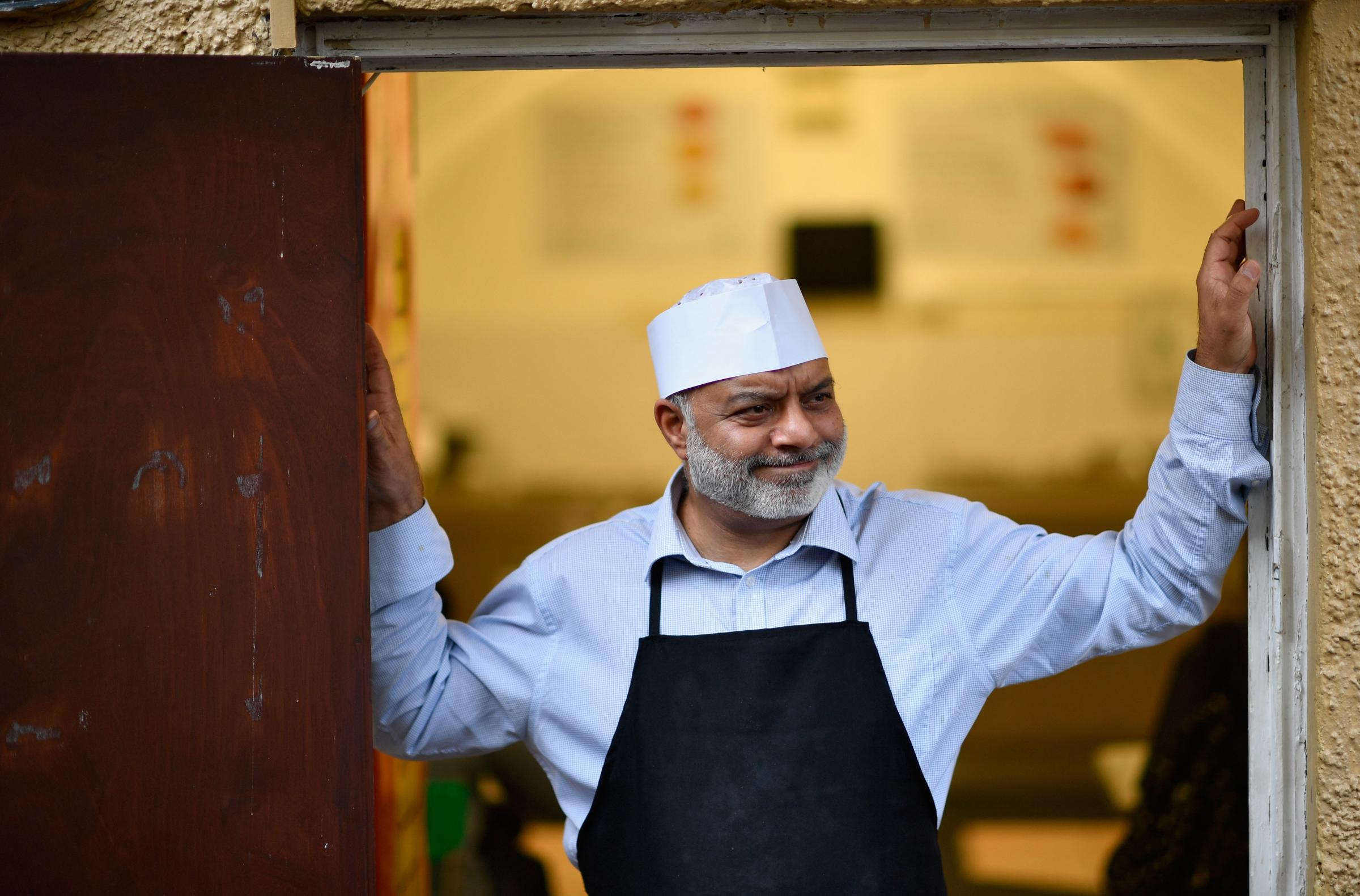 EDINBURGH, SCOTLAND - OCTOBER 28:  Fazal Malik works at the Mosque Kitchen on October 28, 2016 in Edinburgh, Scotland. A recent census showed findings that after Christianity, Islam was the most common faith with seventy seven thousand people in Scotland