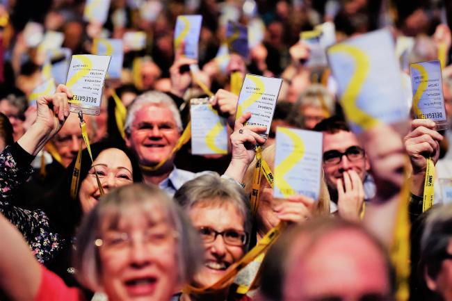 United front: Some of those attending the SNP's conference in Glasgow in October last year.