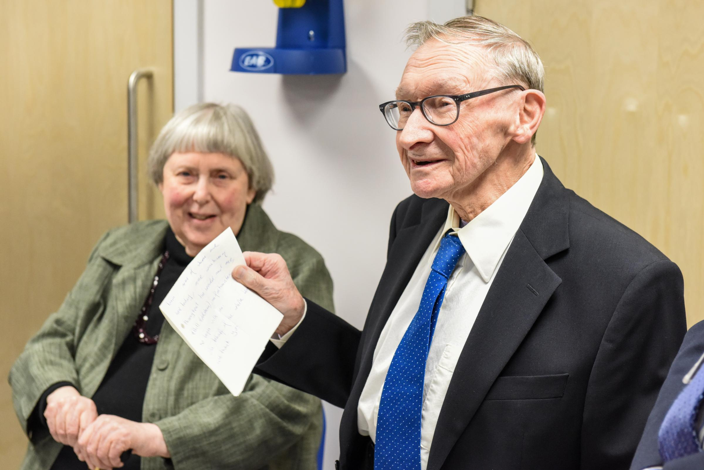 Professor James Hutchison and his wife Dr Margaret 'Meg' Hutchison