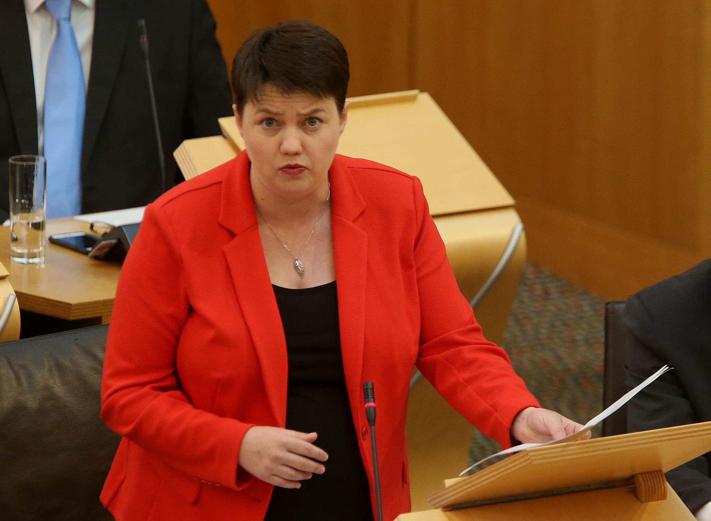 Ruth Davidson at First Minister's Question thursday at Holyrood. STY GORDON.Pic Gordon Terris/The Herald.13/9/18.