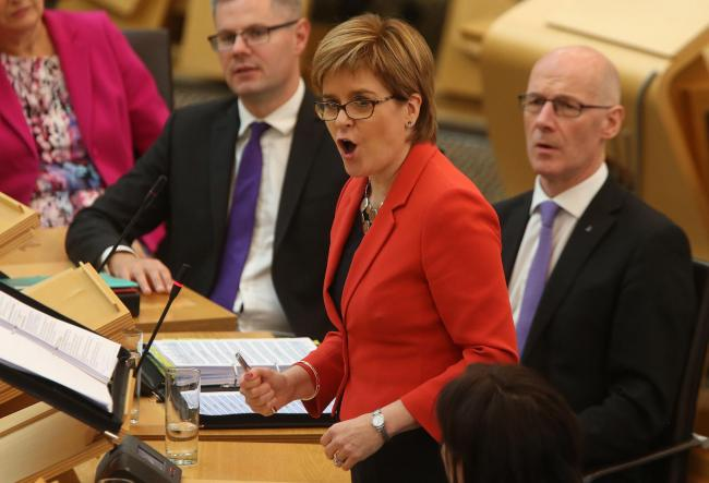 Nicola Sturgeon at FMQs. Pic Gordon Terris/The Herald. 20/9/18.