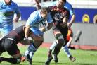 DTH van der Merwe scores one of his two tries