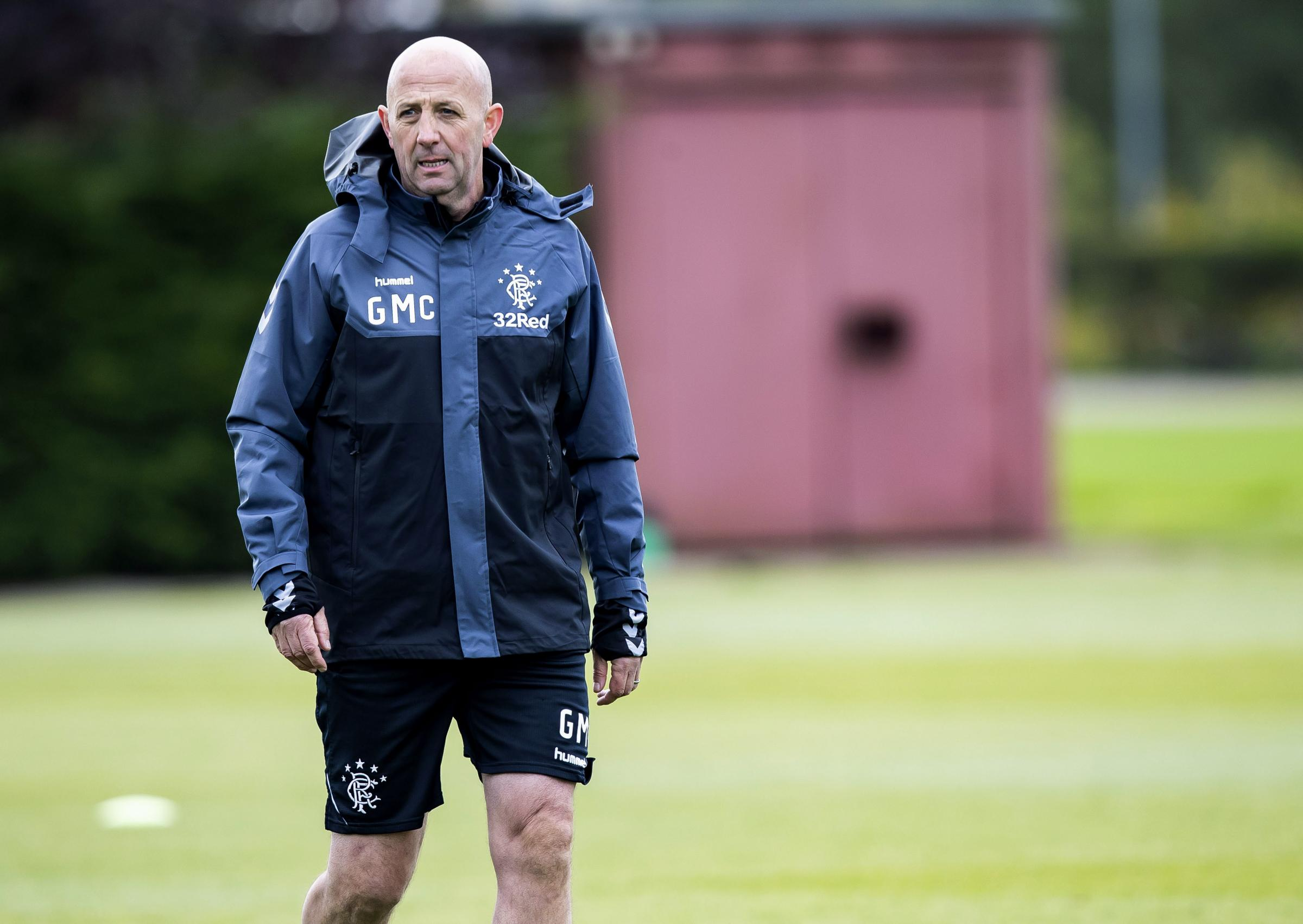 25/09/18. RANGERS TRAINING. THE HUMMEL TRAINING CENTRE - GLASGOW . Rangers assistant manager Gary McAllister.