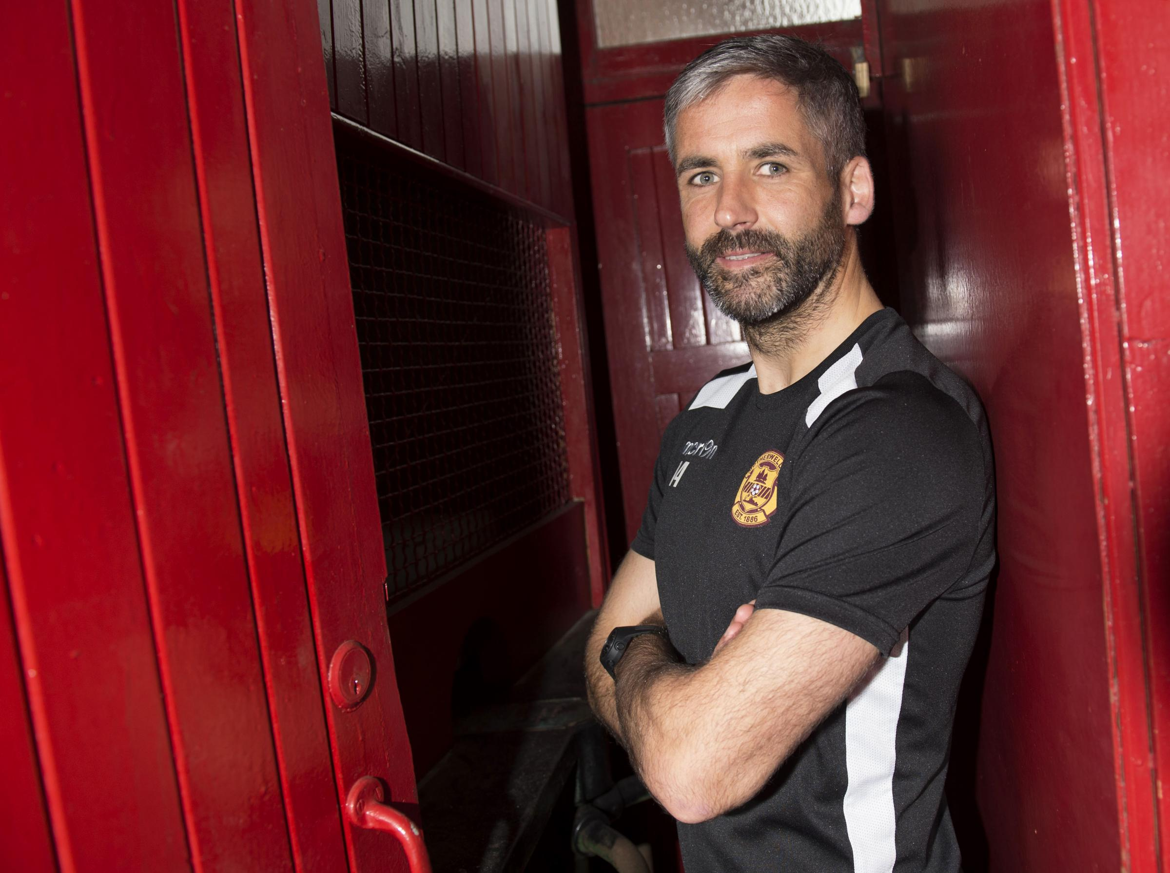 28/09/16  .  FIR PARK STADIUM - MOTHERWELL  .  Motherwell's Keith Lasley speaks to the media.