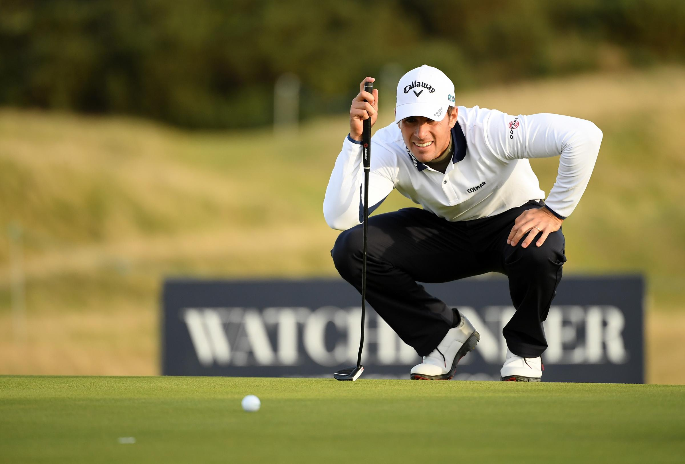 Italian job: Andrea Pavan shot a 63 on day two of the Dunhill Links (Picture: Getty)