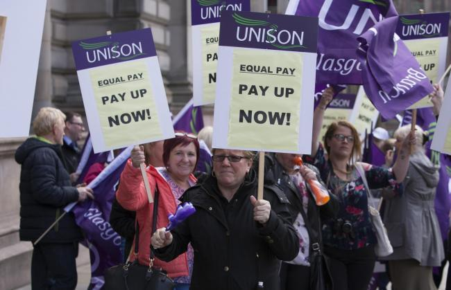 Thousands of women in Glasgow to strike over equal pay dispute