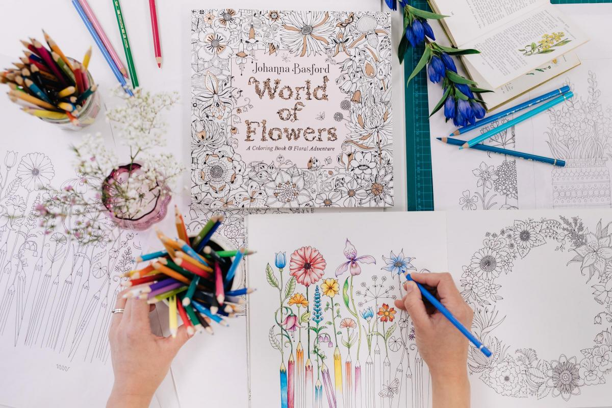 World Of Flowers Johanna Basford On Her Latest Colouring Book