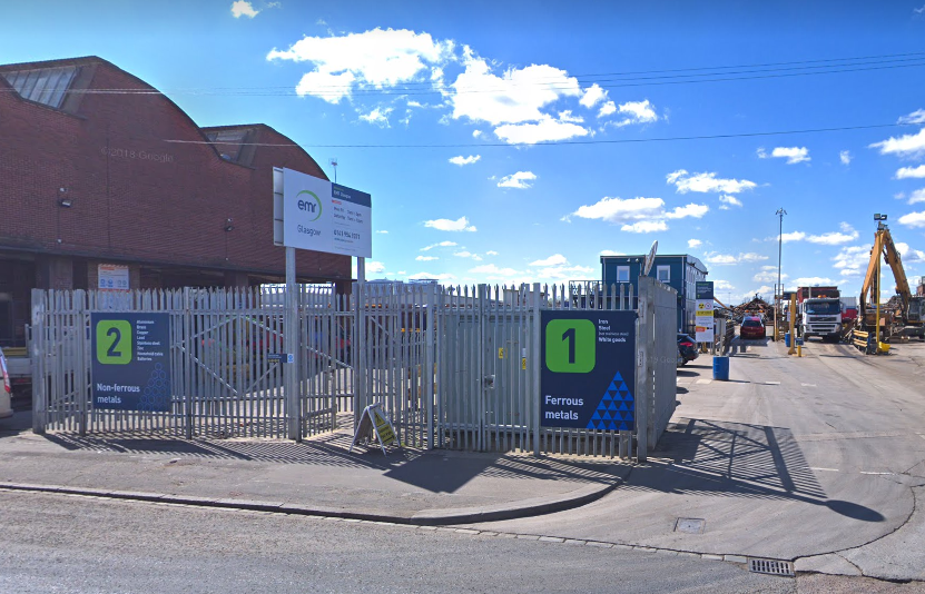 Emergency crews were reportedly called to EMR Scrapyard in Whiteinch