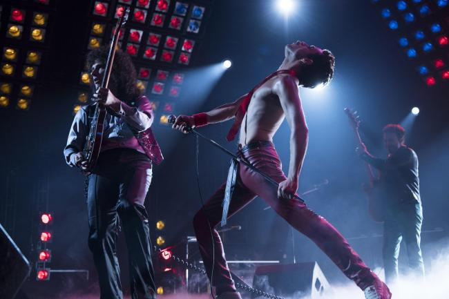 The ultimate stadium rockers in action in Bohemian Rhapsody