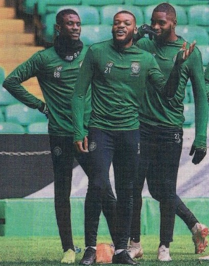 Janice Vamplew wonders if this is why Celtic are so good these days - a picture in the Herald sports sections suggests three players with the numerical advantage of having seven legs amongst them.