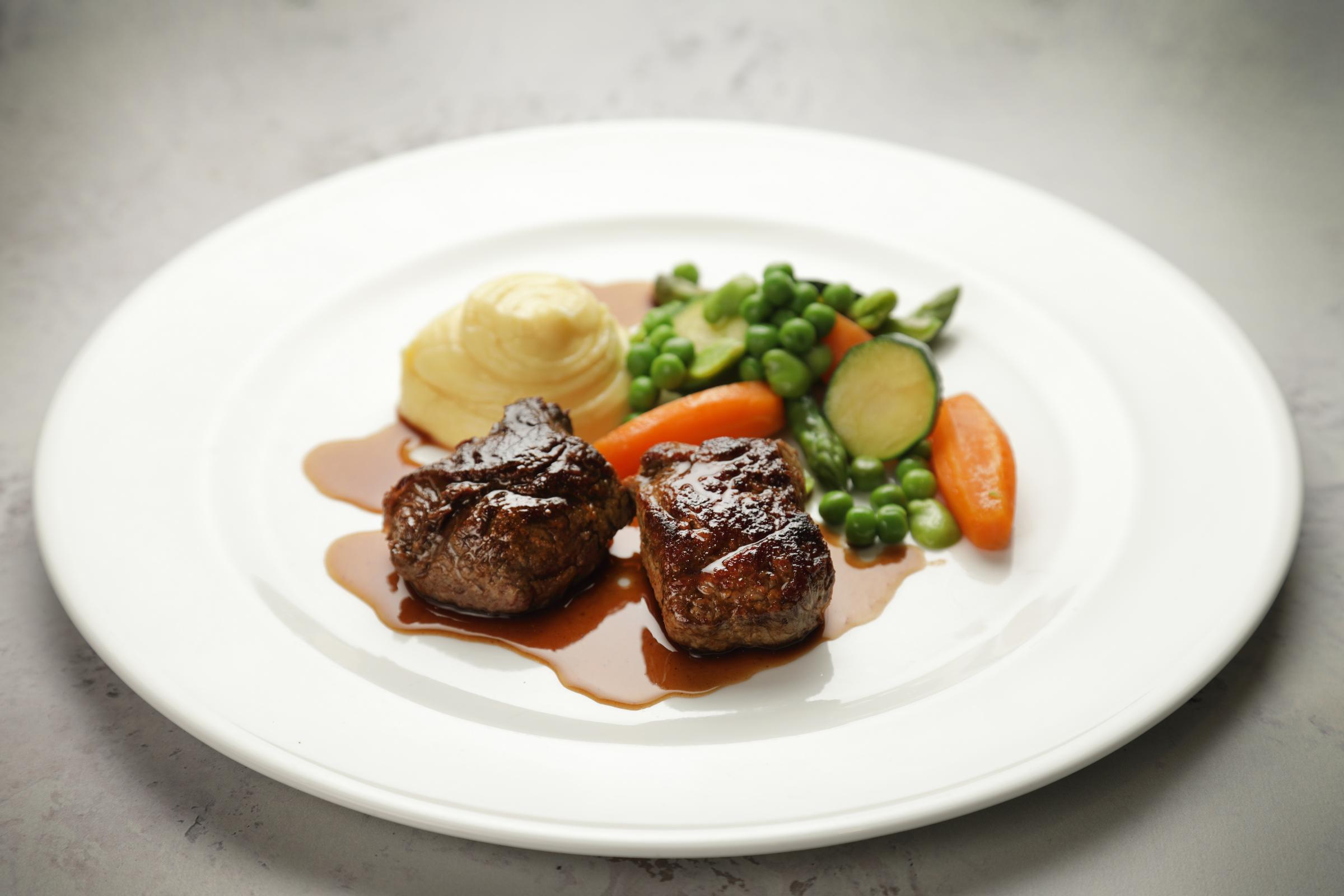 Chef Brian Maule: Medallion of scotch beef, creamed potatoes and seasonal vegetables