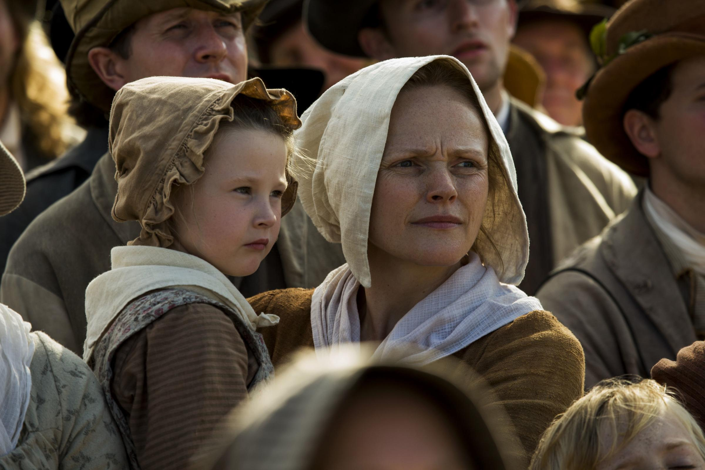 Undated film still handout from Peterloo. Pictured: Maxine Peake as Nellie. See PA Feature SHOWBIZ Film Reviews. Picture credit should read: PA Photo/Amazon Studios/Entertainment One/Simon Mein. All Rights Reserved. WARNING: This picture must only be used