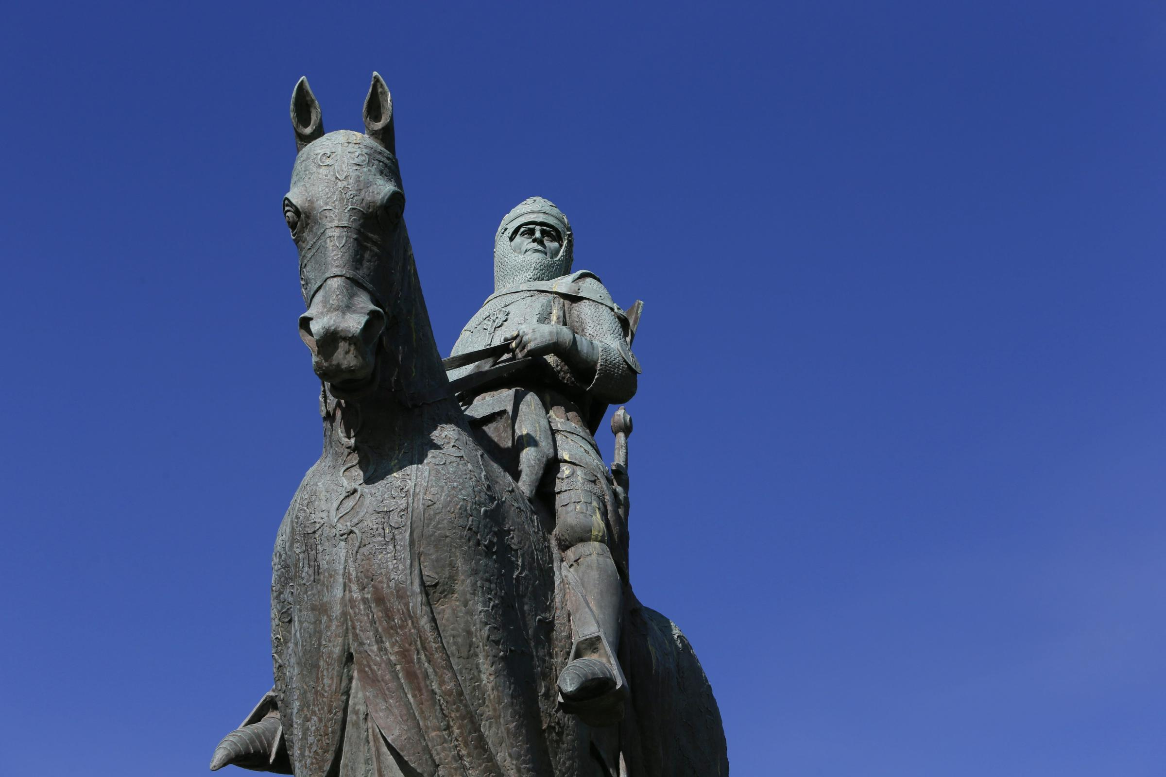 The  Robert the Bruce statue at Bannockburn. Picture: Colin Mearns
