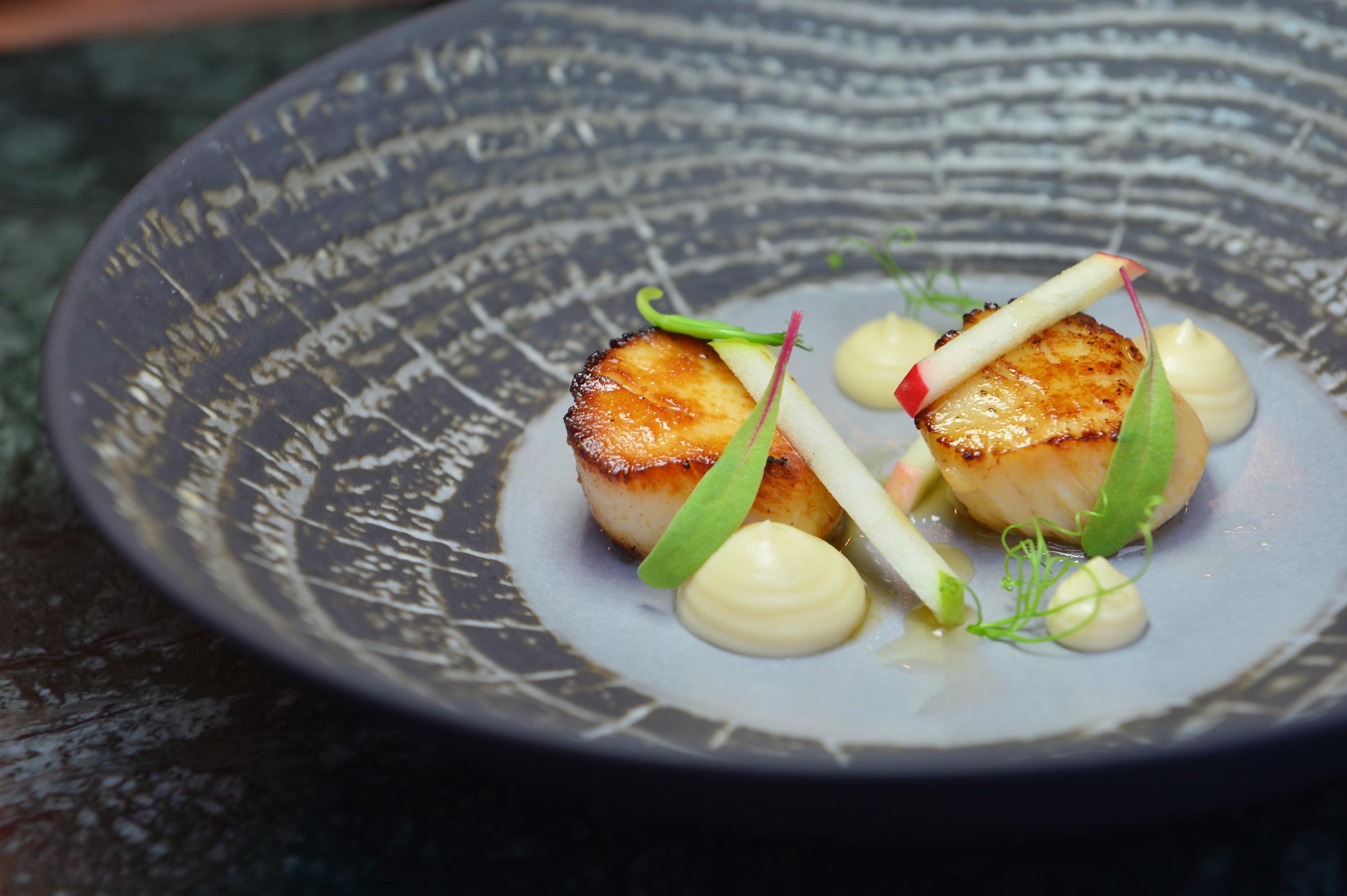 Recipe of the Day: Hand-dived Scottish scallops, celeriac, apple and truffle by Simon Attridge, executive chef at Gleneagles