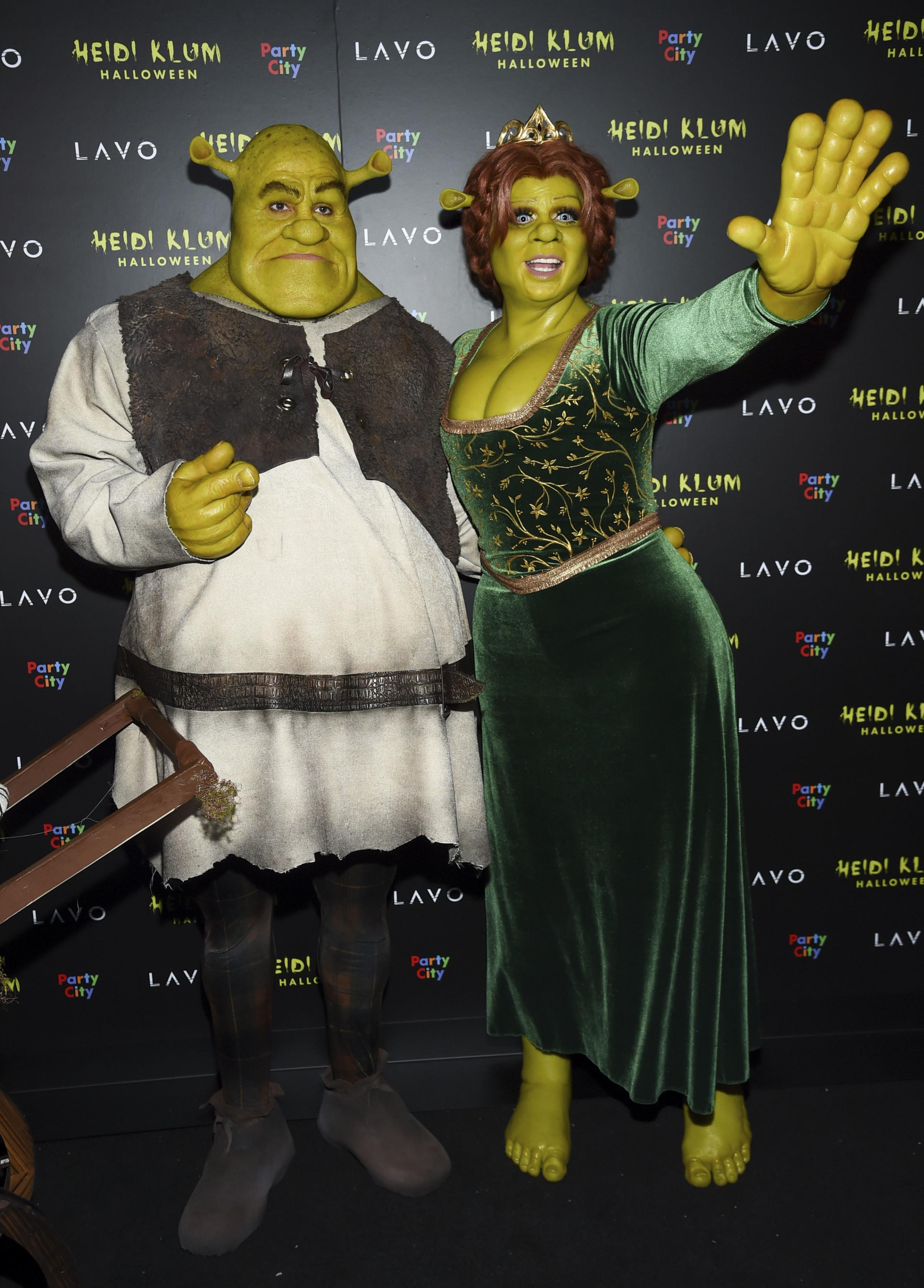 Heidi Klum and boyfriend at a Halloween party in New York. When did dressing up become a competitive sport?