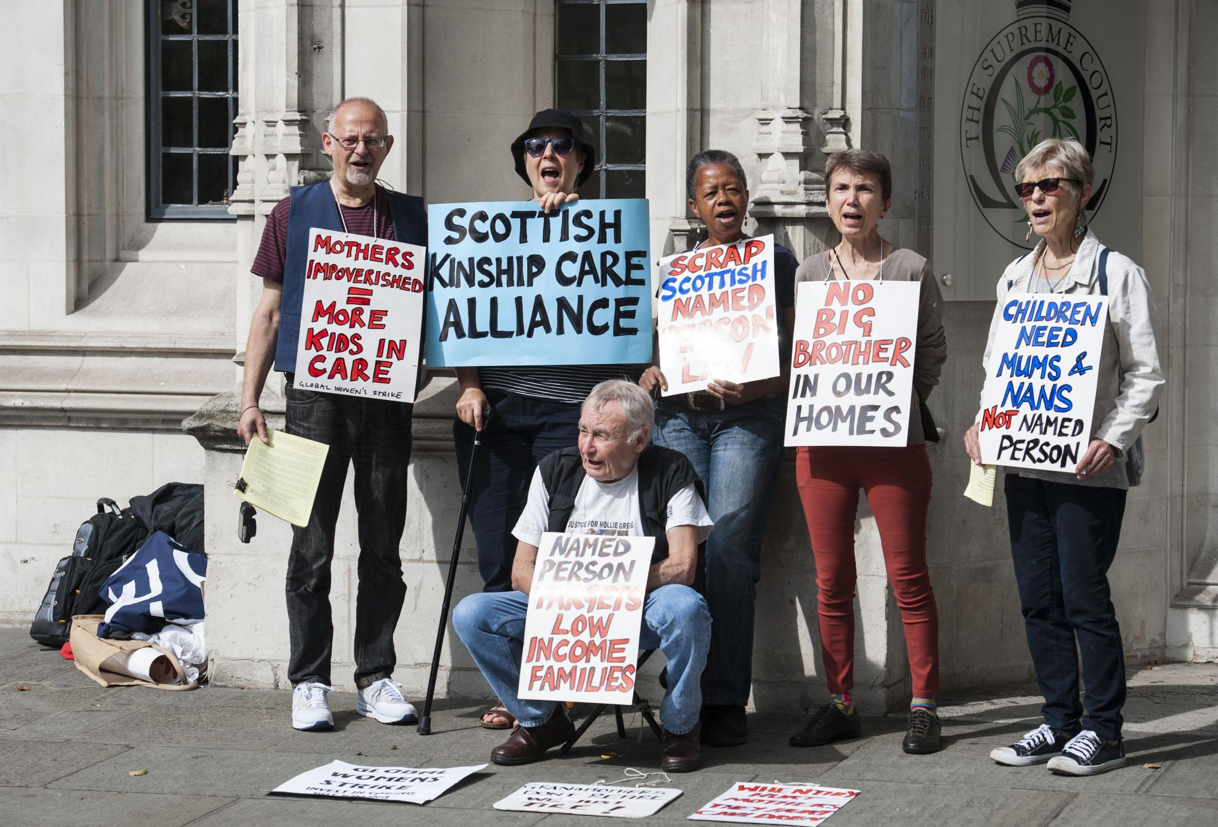 Protesters against the Scottish Government's Named Persons scheme