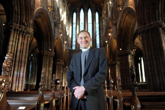 Dr Laurence Whitley, photographed in Glasgow Cathedral at the launch of St Mungo's Festival