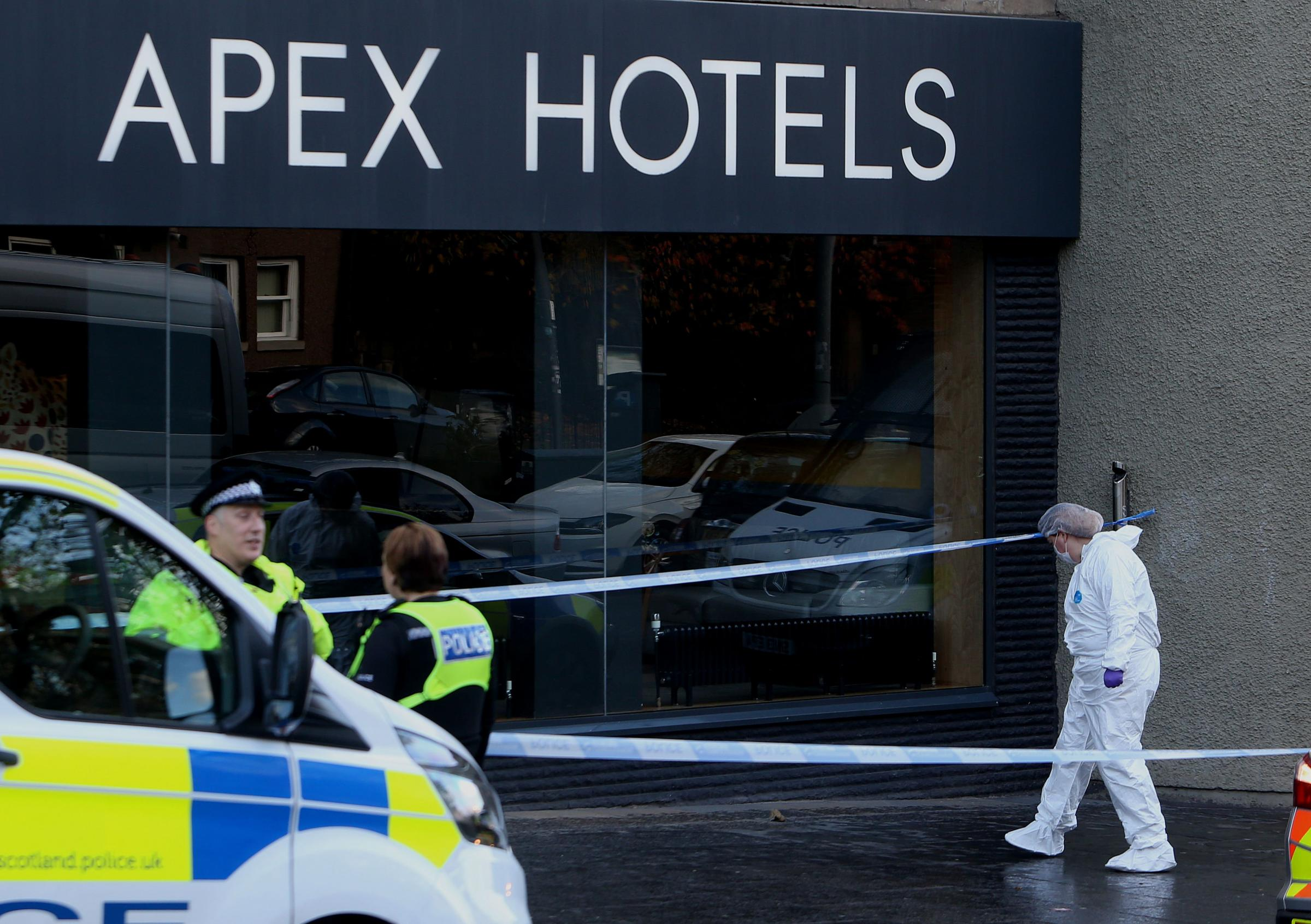 Three stabbed in murder bid outside Edinburgh hotel