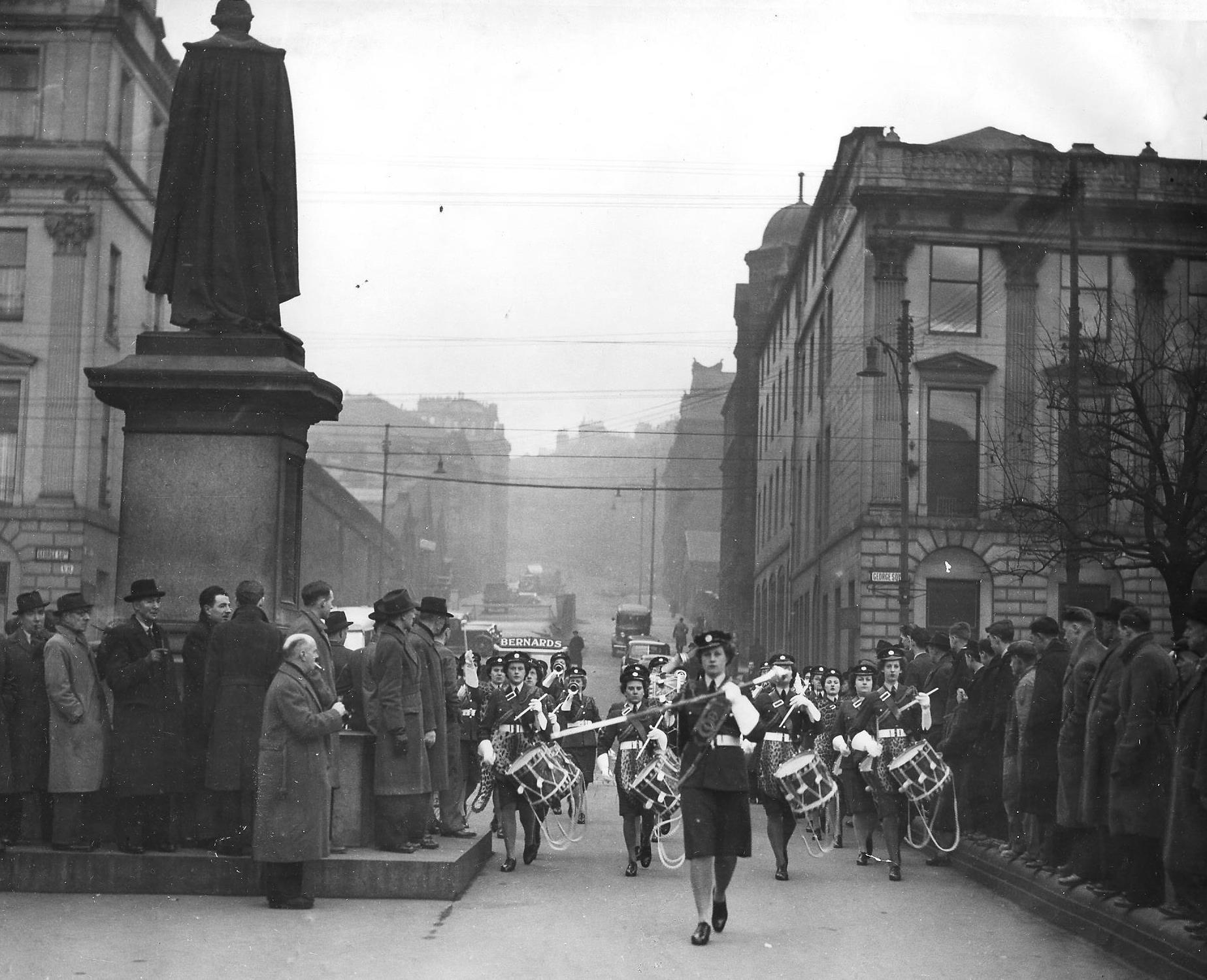 THOSE WERE THE DAYS - 1948: W.R.A.F. band entertains public as Princess Royal awaits