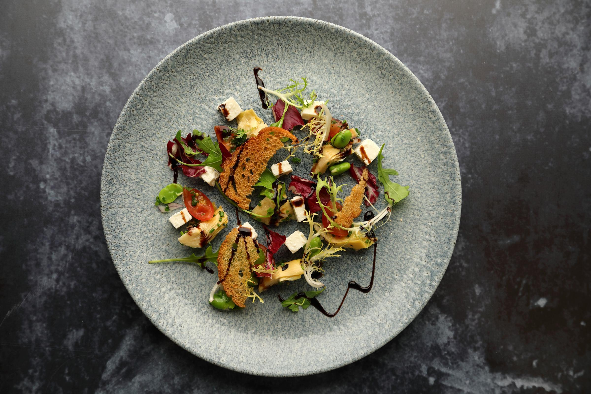 Chef Brian Maule: Feta cheese, artichokes with a balsamic glaze