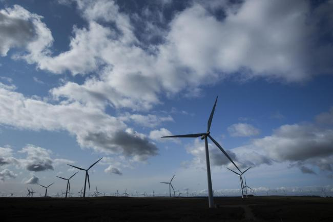 Wind energy is helping power Scotland.