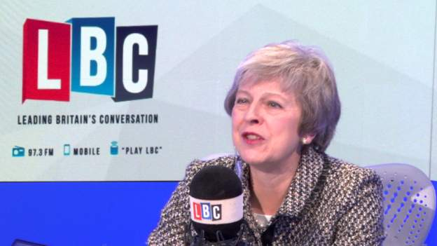 Theresa May appeared on LBC radio phone-in