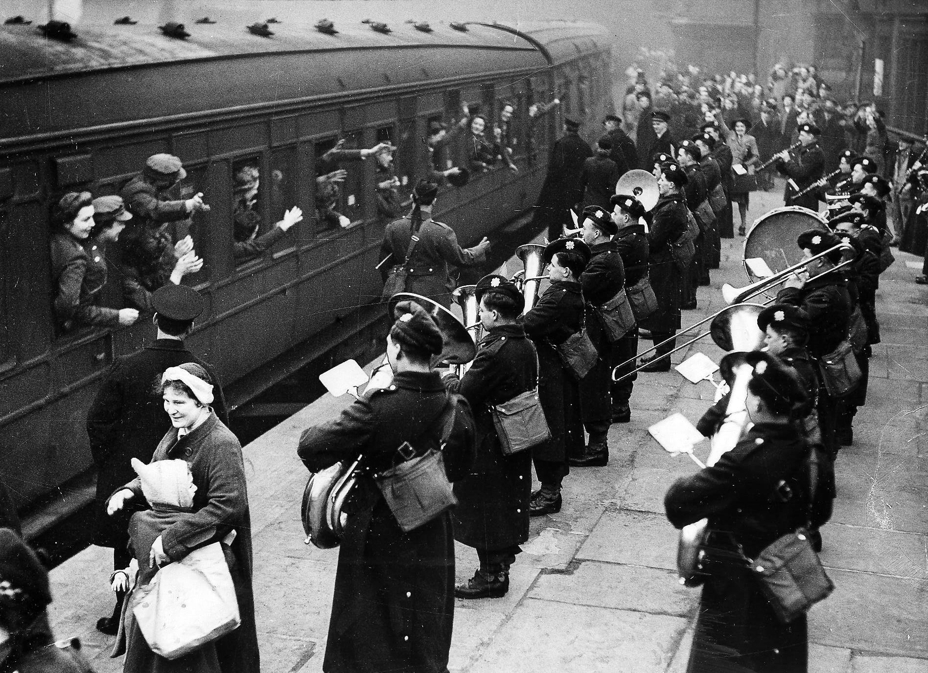 THOSE WERE THE DAYS - 1942: A.T.S. members take their leave of Glasgow in style
