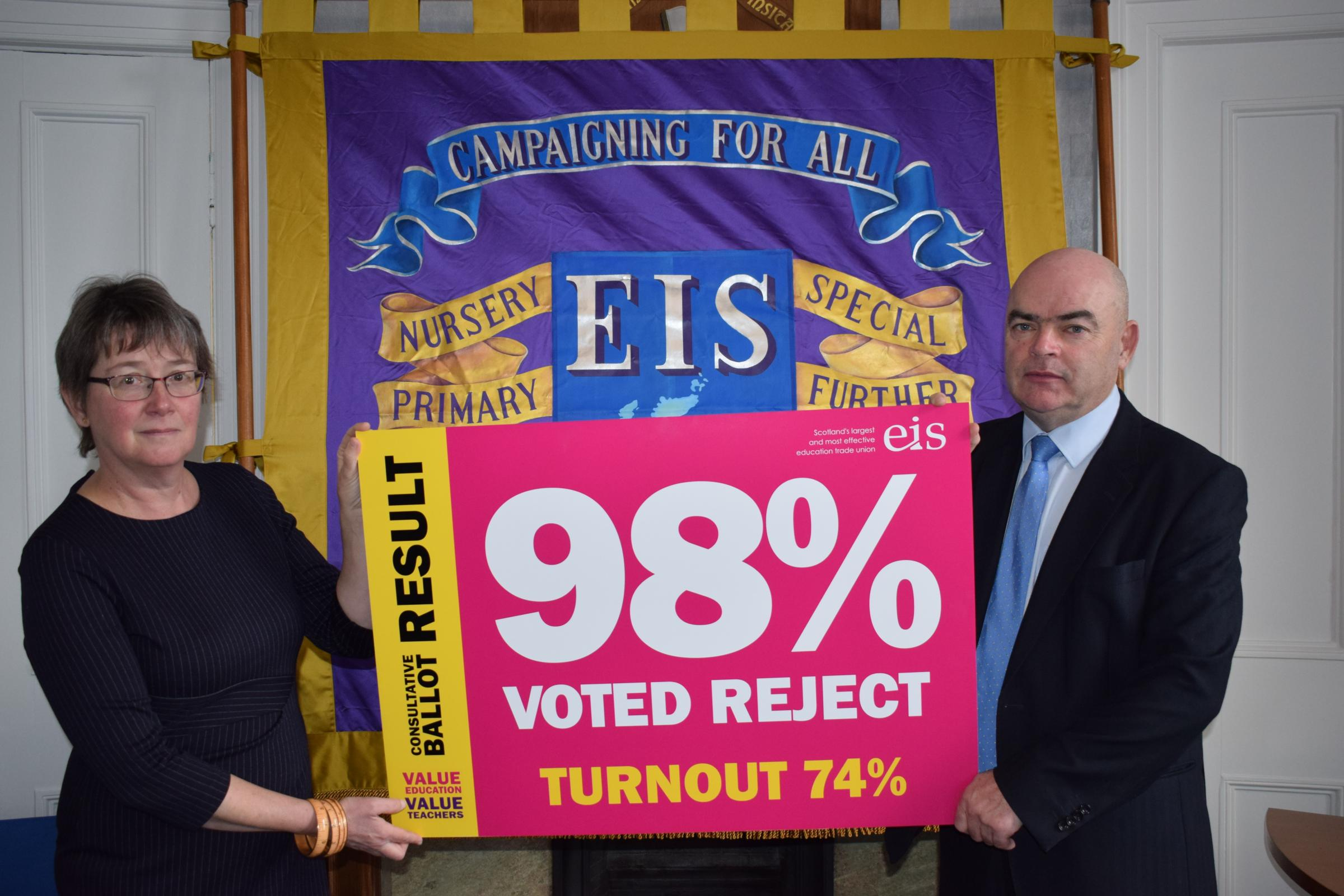 The EIS looks certain to hold a strike ballot over pay