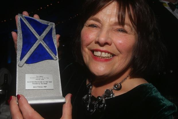 Jeane Freeman with her award. Picture: Gordon Terris.