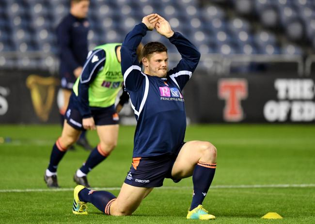 Ross Ford warms-up before a match for Edinburgh
