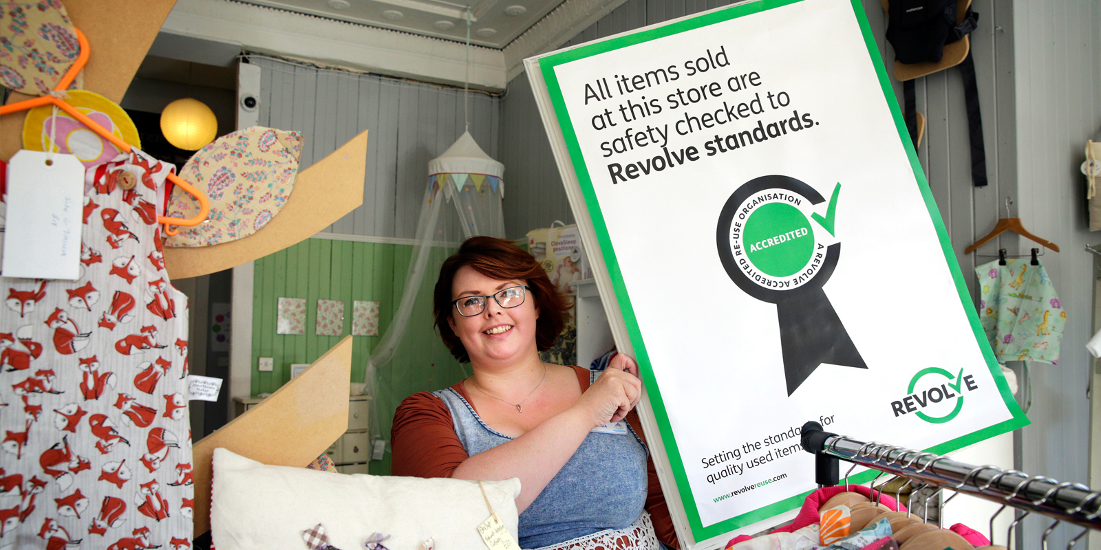 Revolve is a re-use quality standard for shops who sell second hand goods in Scotland