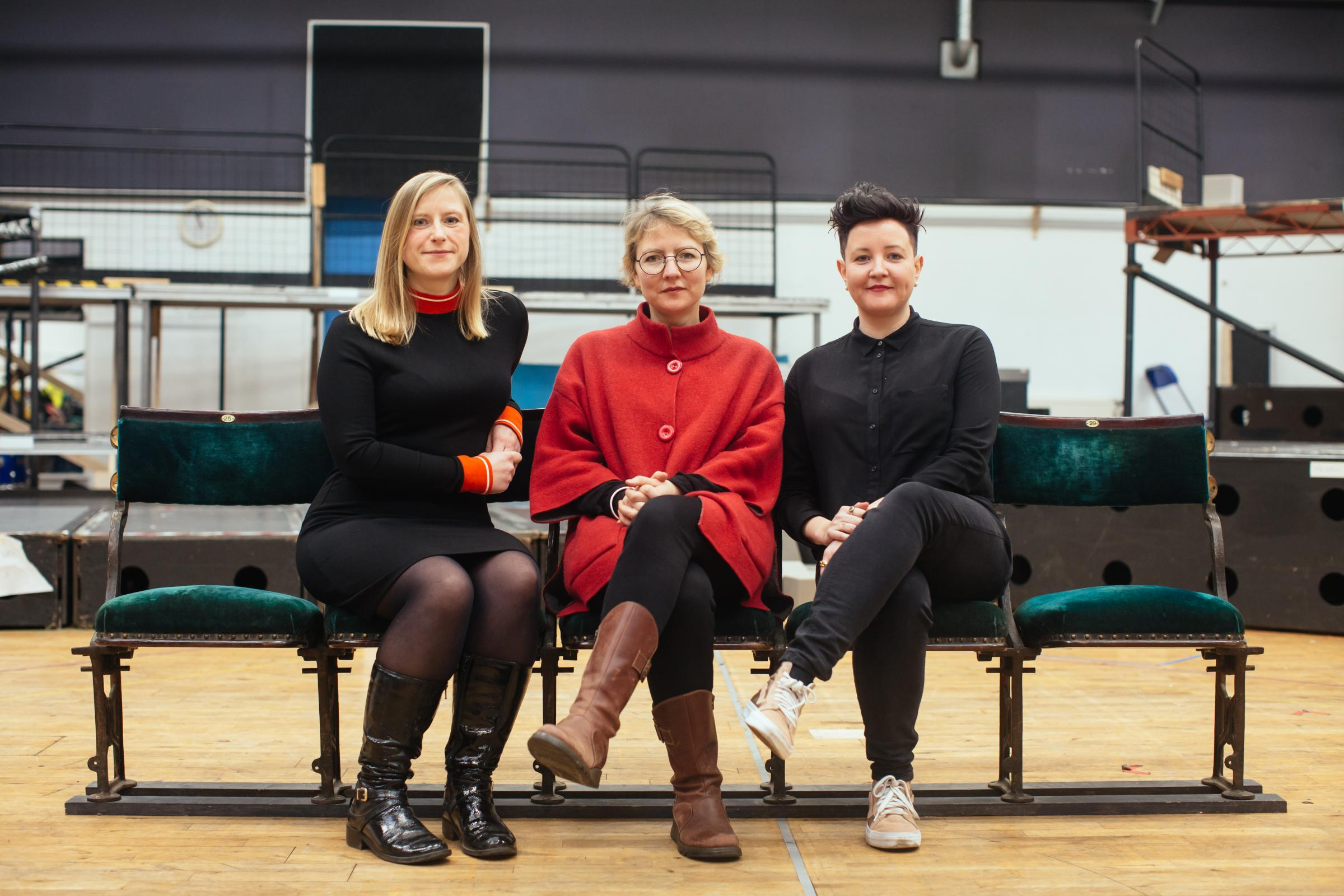 Frances Poet, Zinnie Harris and Stef Smith at the Citizens Theatre 2019 season announcement. Image Jassy Earl