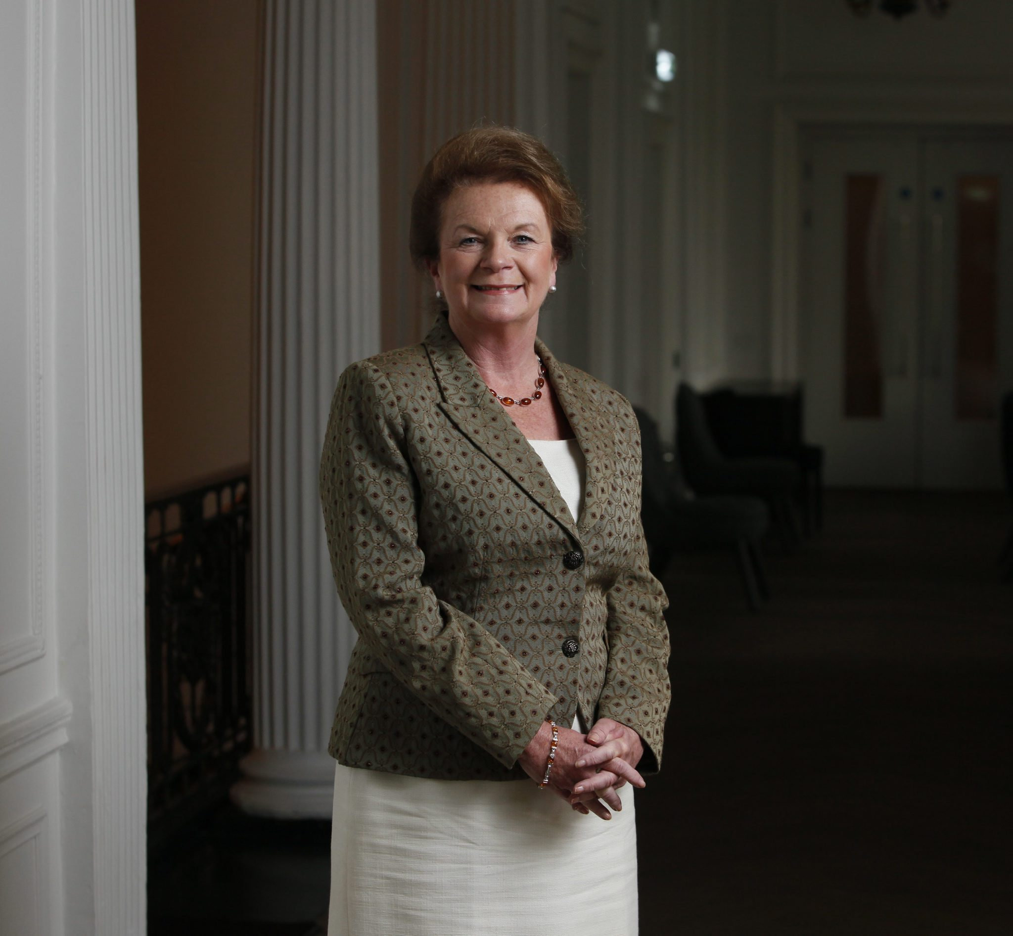 Helen Liddell, former MP, secretary of state for Scotland and lately British High Commisioner to Australia. She is pictured in Blythswood Square hotel, Glasgow...Photograph by Colin Mearns.4 May 2010.
