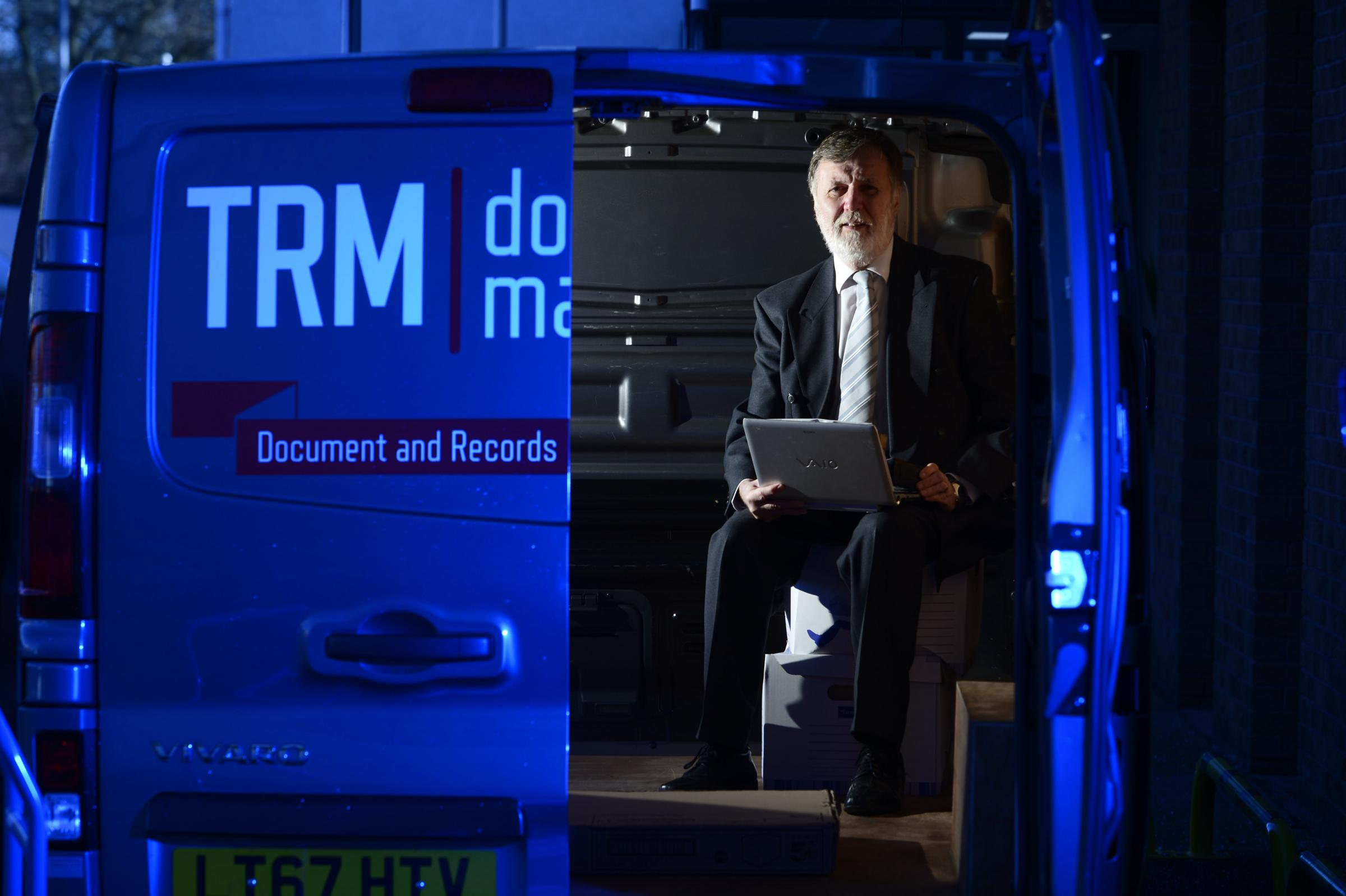 Gordon McPherson of TRM has been in the document management industry for more than 40 years. Photograph: Jamie Simpson