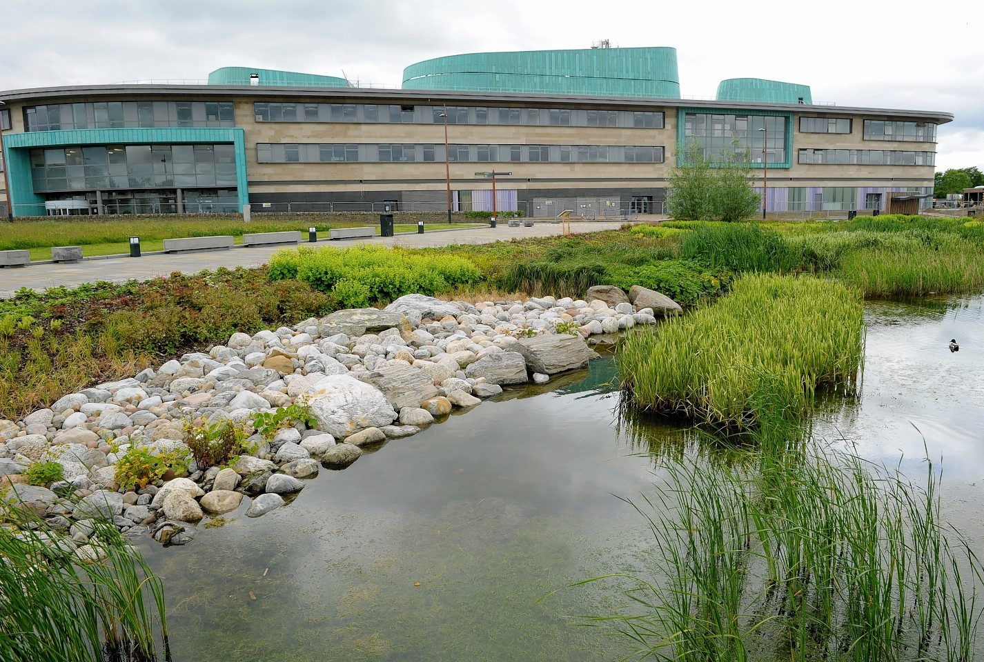..Picture by SANDY McCOOK  19th June '15..The new Inverness College UHI on the Inverness Campus which it is rumoured will not open this coming academic year..