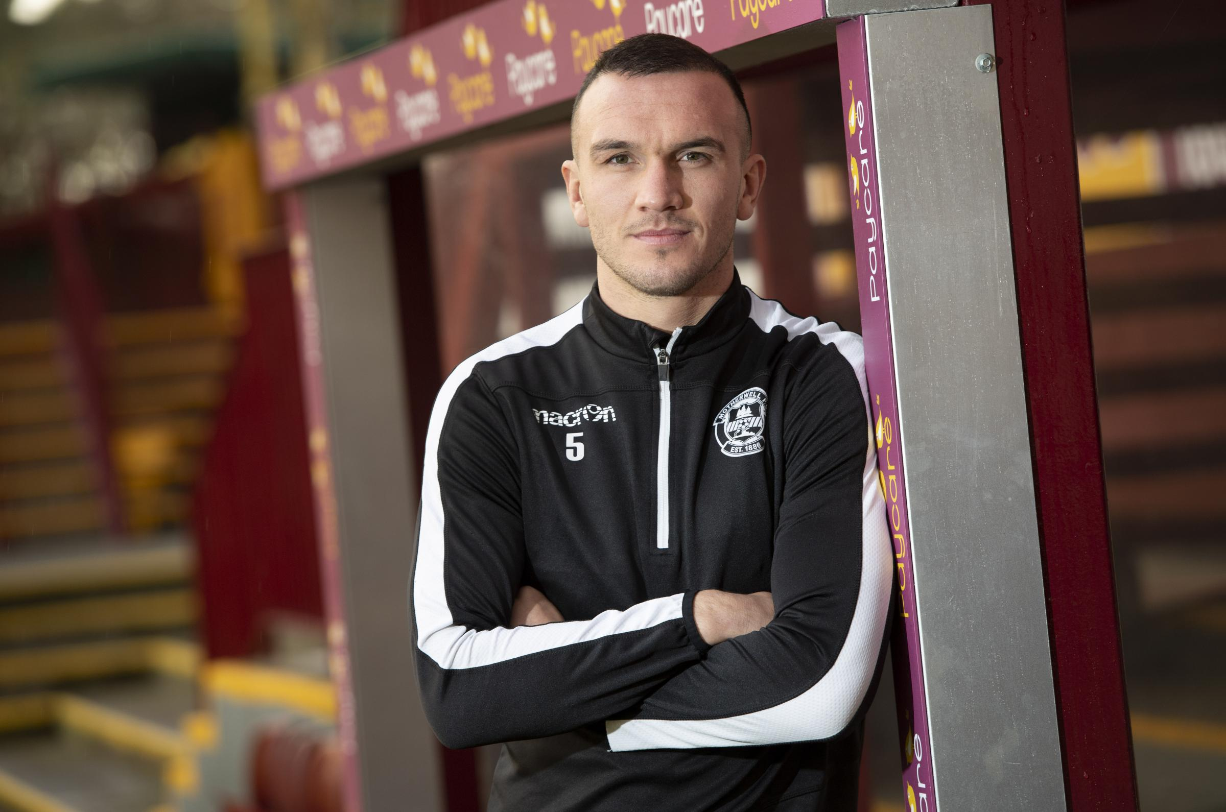 Motherwell's Tom Alfred looks ahead to his side's game against Celtic