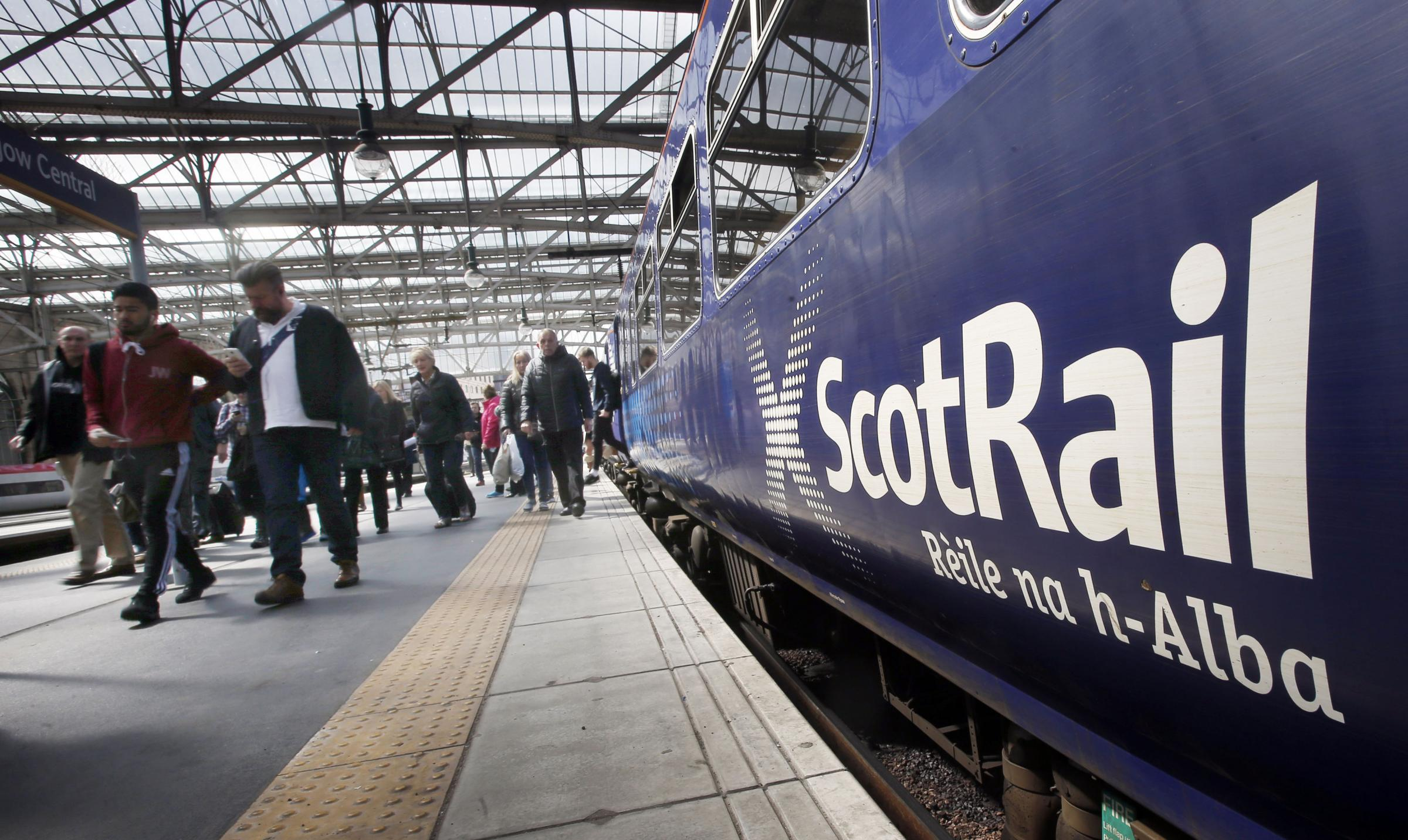 File photo dated 29/05/15 of a ScotRail train operated by Abellio at Glasgow Central Station in Scotland. Abellio ScotRail made a loss of £3.5 million after tax in its first full year of operating train services in Scotland, new accounts show