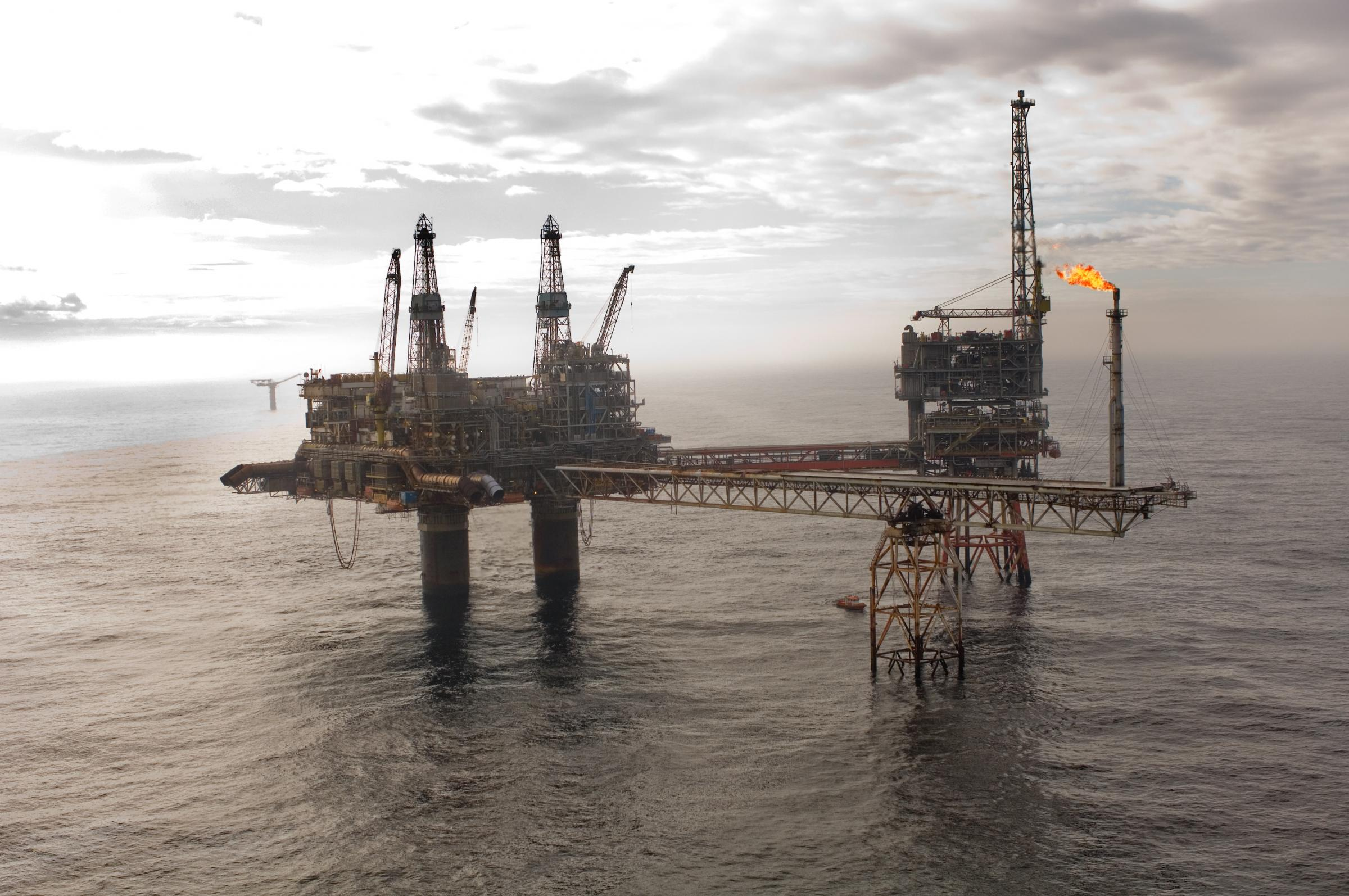 The Beryl Alpha platform in the North Sea Picture: Apache