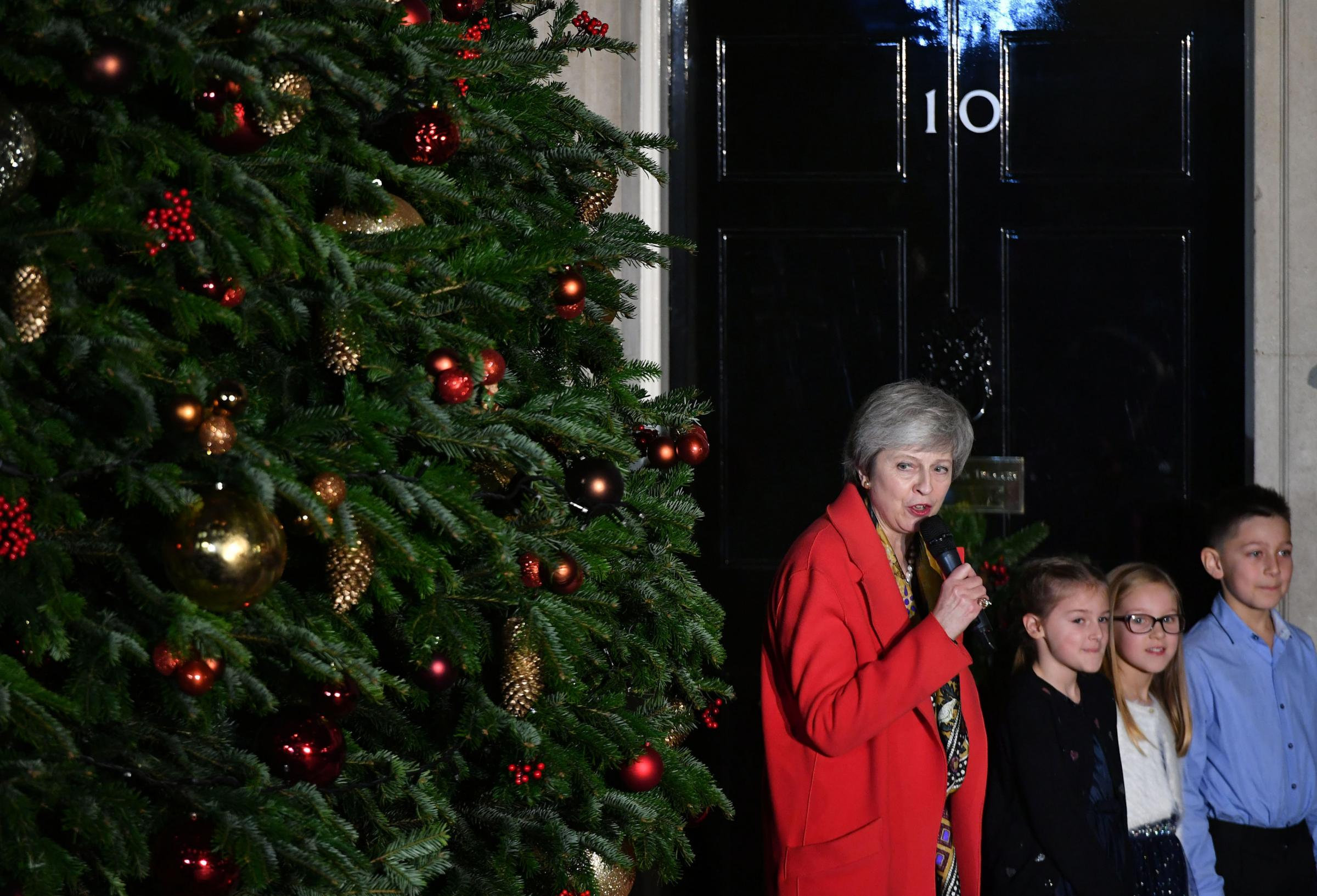 O Come All Ye Faithful. But not much festive cheer for May as she faces Commons defeat