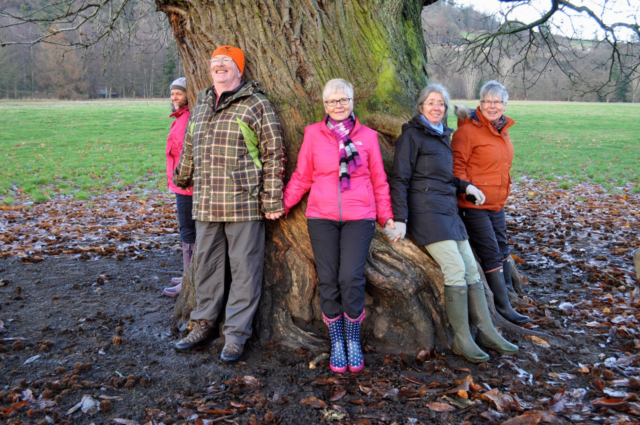 Woodland Trust members celebrate their success.