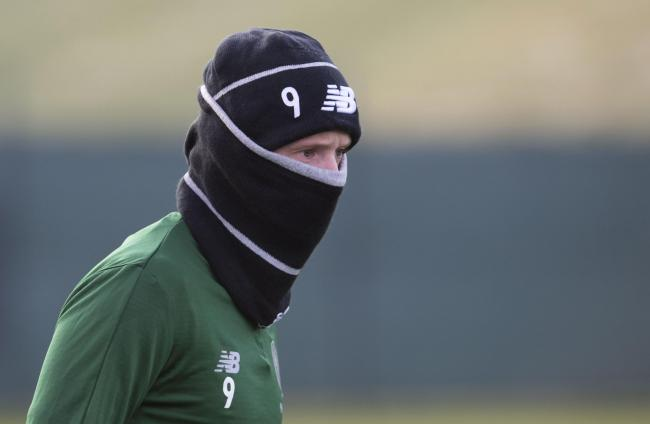 04/12/18.CELTIC TRAINING.LENNOXTOWN.Celtic's Leigh Griffiths.