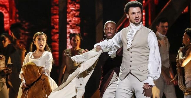 The opening number from Hamilton was one of the joys of the Royal Variety Performance