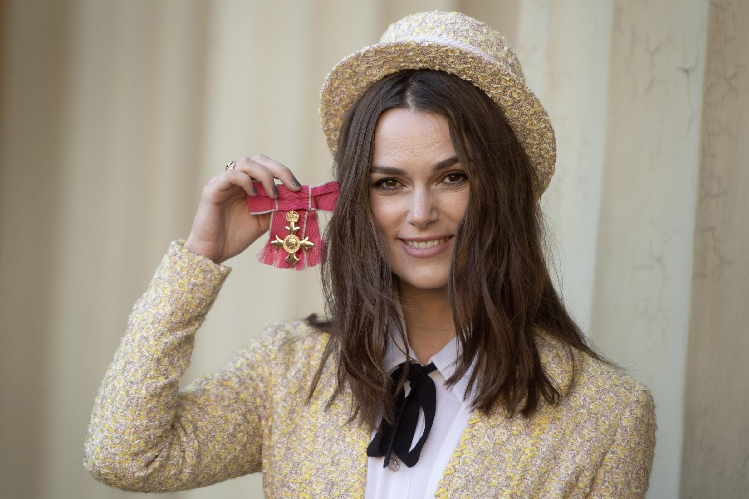 Keira Knightley with her OBE