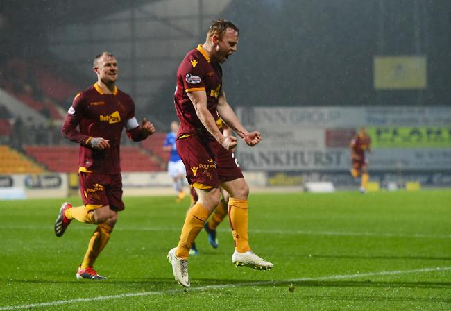 15/12/18 LADBROKES PREMIERSHIP ST JOHNSTONE V MOTHERWELL MCDIARMID PARK - PERTH Danny Johnson celebrates his goal for Motherwell to make it 2-0