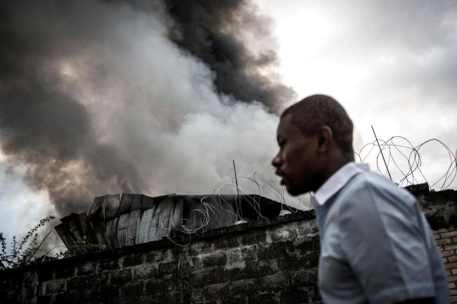 The fire that destroyed thousands of voting machines in the capital Kinshasa