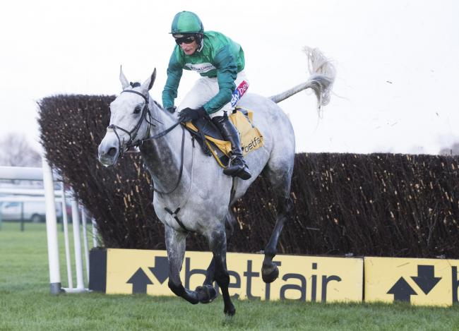 b7279627 Bristol De Mai ridden by Daryl Jacob jumps the last fence to win the  Betfair Chase